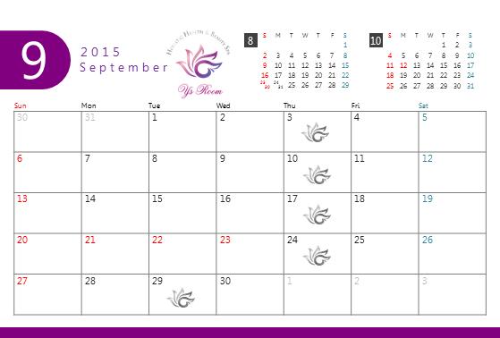 Y's Room ワイズルーム Schedule 201509