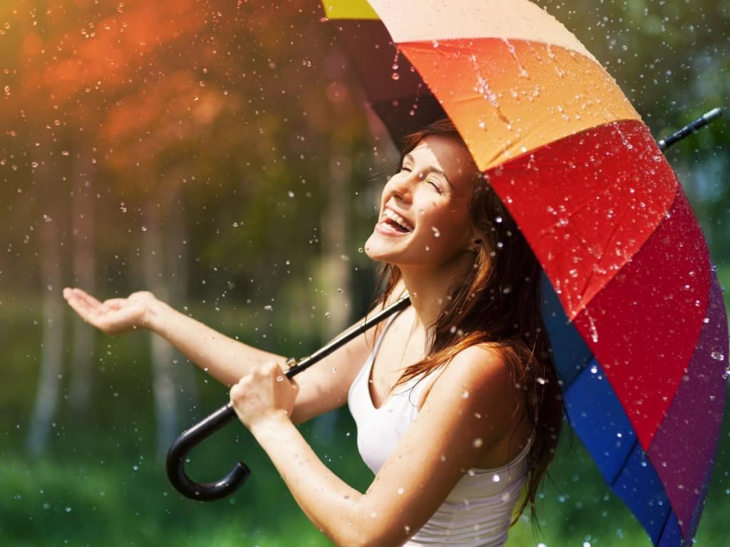 ワイズルーム 雨 傘 笑顔