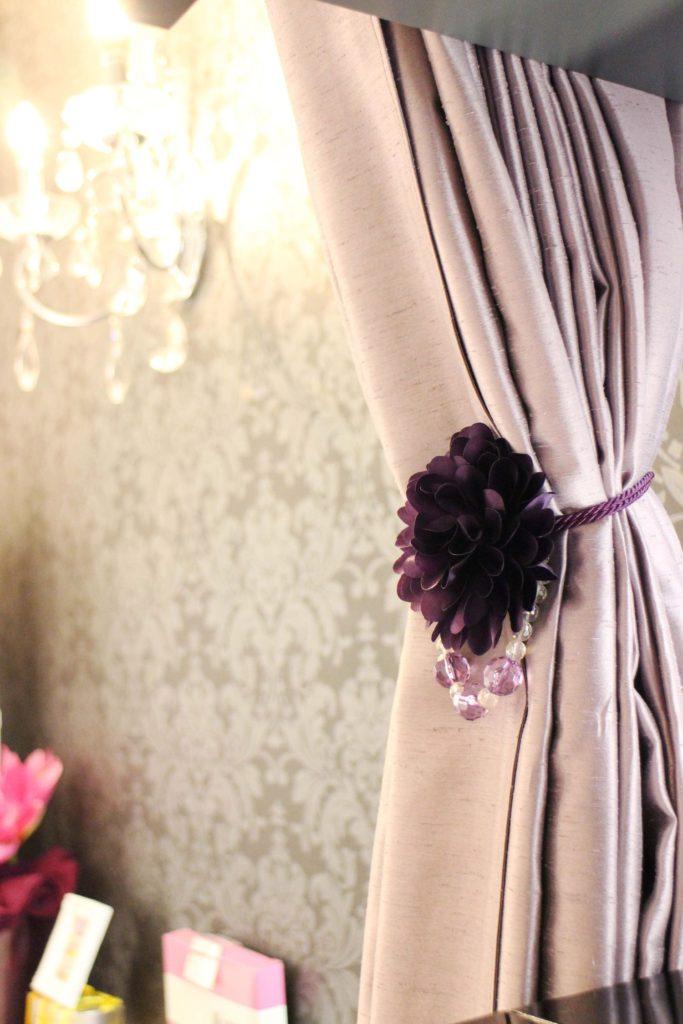 ワイズルーム 紫 カーテン